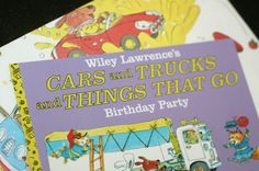 Richard Scarry's Cars & Trucks & Things That Go (Birthday Party Invitation)