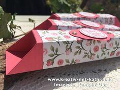 Heute möchte ich euch noch eine Box als Dankeschön zeigen. Diese Box kommt ganz ohne Kleber aus. Durch die Falttechnik schließt sie von ganz alleine.