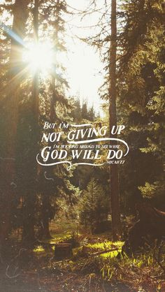 Mic 7:7 But as for me, I watch in hope for the LORD, I wait for God my Savior; my God will hear me.