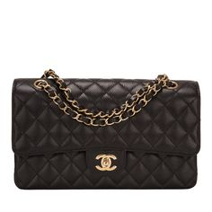 Chanel Medium Classic double flap bag of black quilted caviar leather with gold tone hardware. AVAILABLE NOW For purchase inquiries, Please Contact: Email: info@madisonavenuecouture.com I Call (212) 207-4572 I WhatsApp (917) 391-2281 Direct Message on Instagram: @madisonavenuecouture Guaranteed 100% Authentic | Worldwide Shipping | Bank Transfer or Credit Card