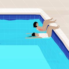 Swimming Diving, Swimming Pools, Pool Drawing, Swimming Pictures, Children Swimming Pool, Water Art, Project, Water Life, Kids Reading