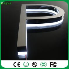 Factory Outlet Outdoor advertising mirror polished stainless steel LED 3d letter sign logo