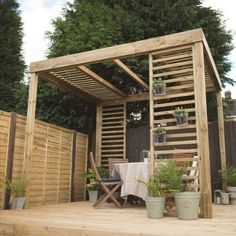 Add a feature to your garden with our wooden outdoor living products. From pergolas & arches to summerhouses & furniture.     Timber Pergola, Wooden Pergola, Outdoor Pergola, Diy Pergola, Pergola Ideas, Retractable Pergola, Pergola Garden, Pergola Lighting, Pergola With Roof