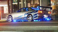 Nissan Skyline GTR Fast and Furious Movie Skyline Gtr R34, Nissan Gt R, Fast And Furious, Voiture Paul Walker, Film Cars, Movie Cars, Luxury Sports Cars, Street Racing Cars, Auto Motor Sport