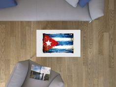 """Du bist einzigartig. Mach dein Ding! Jetzt dein Bild online designen unter www.creatisto.com/konfigurator """"The Cuban Flag"""" für deinen IKEA Lack Tisch."""