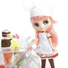 Middie Blythe Apron White Doll Clothes for by BrownEyedRose