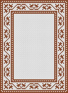 Free cross stitch pattern - frame border for cross stitch.