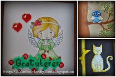 mini hama perler card lillefashion.by.lise