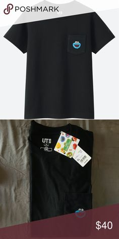 2a255e29d03273 Uniqlo KAWSxSesame Street Cookie Monster Pocket T NWT KAWS x Sesame Street  collaboration exclusive from Uniqlo