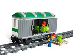 Lego 3677 - Lego City - Red Cargo Train | Rode Vrachttrein (6 of 7)