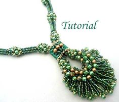Beading Tutorial Peacock Necklace by Seed Bead Necklace, Seed Bead Jewelry, Beaded Jewelry, Handmade Jewelry, Beaded Bracelets, Handmade Beads, Seed Beads, Diy Necklace, Stretch Bracelets