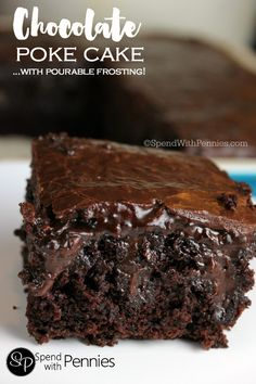 Chocolate Poke Cake From Scratch | Red White Apron