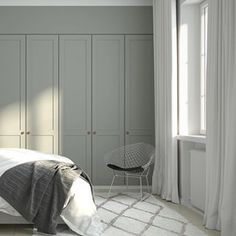 Helsingö wardrobe designs by scandi designers and traditional craftsmanship. Built on IKEA cabinets because taste isn't equal to high price. Bedroom Built In Wardrobe, Bedroom Closet Design, Wardrobe Doors, Ikea Wardrobe, Bedroom Storage, Scandi Bedroom, Home Bedroom, Interior Design Living Room, Bedroom Decor