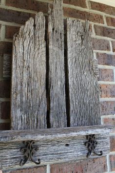 another crap shelf dandy Old Wood Projects, Reclaimed Wood Projects, Woodworking Projects, Salvaged Wood, Barn Board Projects, Old Barn Wood, Weathered Wood, Barn Wood Crafts, Rustic Wood