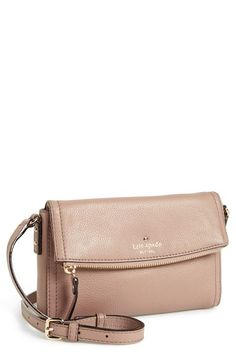 kate spade new york 'cobble hill - mini carson' crossbody bag. This bag is THE ONE Leather Crossbody, Leather Bag, Crossbody Bag, Kate Spade Handbags, Kate Spade Bag, Kate Spade Outlet, Purse Styles, Little Bag, Small Bags