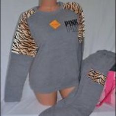 Size small outfit good condition has some pilling! Victoria's Secret Tops Sweatshirts & Hoodies