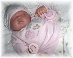 Reborn Baby girl Hayley...Rosebud by Berenguer...5lbs & 7oz's..21 inches..rooted hair..Created by me..2008...