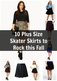 10 Plus Size Skater Skirts for Fall Fashion Fall Fashion Skirts, Plus Size Fall Fashion, Autumn Fashion, Curvy Girl Fashion, Cute Fashion, Plus Size Dresses, Plus Size Outfits, Curvy Inspiration, Fashion Inspiration