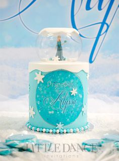 Elsa-Frozen-Birthday-Cake-2.jpgFrozen Birthday Party invitations and decor on the Blog at Little Dance Invitations.  http://www.littledanceinvitations.com.au/Blog/November-2014/Frozen-Inspired-Birthday-Party