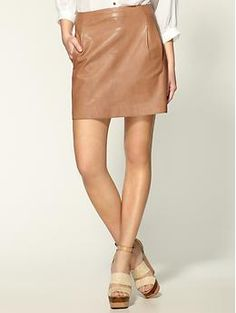 Vince leather skirt. Must have. Pretty soon.