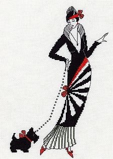 Sew Inspiring : Art Deco - Art Nouveau Cross Stitch Kits