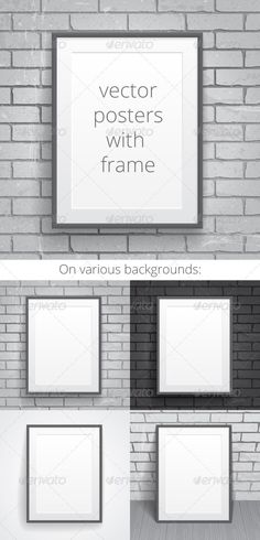 Blank Paper Posters with Frame