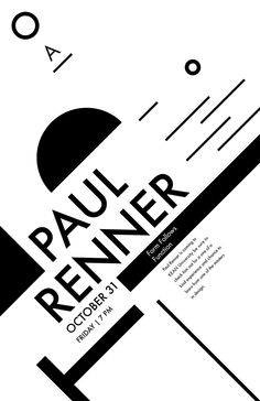 Paul Renner Futura Poster