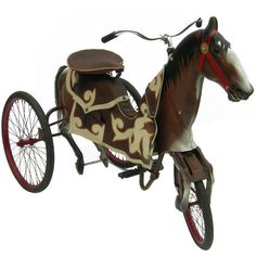 Off The Wall Antiques - Adult Size Carnival Horse Racing Bike ❤ liked on Polyvore featuring steampunk, furniture and vintage