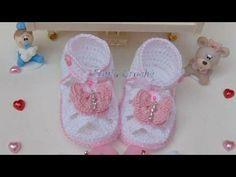 Sandalia de croche para bebe - YouTube