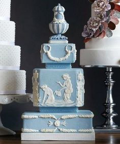Wedgewood wedding cake. Cake Opera Co. Toronto