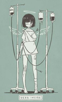 dead inside by ocono anime girl Anime Pokemon, Kawaii Anime, Manga Art, Anime Art, Dark Art Illustrations, Japon Illustration, Arte Obscura, Sad Art, Dark Anime