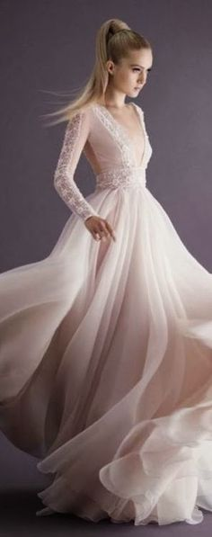 Paolo Sebastian Couture Collection AW 2014 maybe short sleeve and in light pink