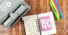 five sixteenths blog: Make it Monday // DIY Mini Journal using the Cinch