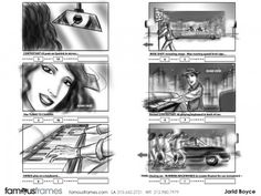 FamousFrames Storyboards, Animatic Artists, Storyboard Artists, Jarid Boyce