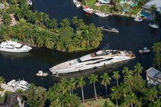 Palmer Johnson's Lady M going around Little Florida in Fort Lauderdale - AJ MacDonald - Yacht Broker - aj.macdonald@alliedmarine.com
