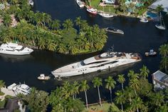 Palmer Johnson's Lady M going around Little Florida in Fort Lauderdale - AJ MacDonald - Yacht Broker - aj.macdonald@alliedmarine.com