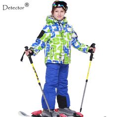 FREE SHIPPING skiing jacket+pant snow suit fur lining 20 DEGREE ski suit  kids winter clothing set for boys-in Skiing Jackets from Sports    Entertainment on ... 23fe35914