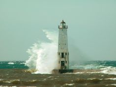 Frankfort Lighthouse by Pure Michigan, via Flickr
