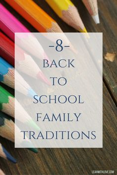 8 Back to School Family Traditions- Back to School breakfast, annual pictures, lunch box notes and more. All things to make back to school time special! New Years Traditions, Family Traditions, Creative Activities, Activities For Kids, Activity Ideas, First Day Of School, School Days, Back To School Breakfast, Kids Schedule