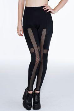 Cross Net Leggings – LIMITED ($90AUD) by BlackMilk Clothing