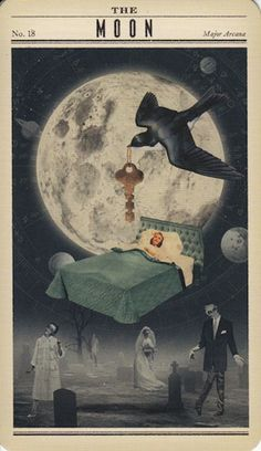 Zombie Tarot - The Moon