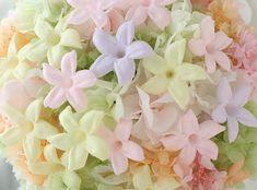 ブーケ きらきらぼし プリザのジャスミン : 一会 ウエディングの花