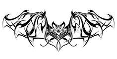 bat tattoo designs | Tribal Bat Tattoo Design