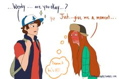 Emo Pixy — Long time no see… She's okay Dipper. Gravity Falls Anime, Gravity Falls Funny, Gravity Falls Dipper, Gravity Falls Fan Art, Gravity Falls Comics, Dipper And Wendy, Dipper And Mabel, Dipper Pines, Wendy Corduroy