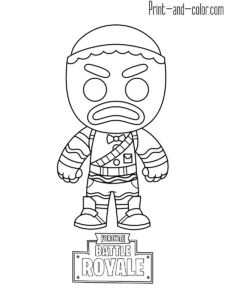 Fortnite Battle Royale Coloring Page Beef Boss Ideas