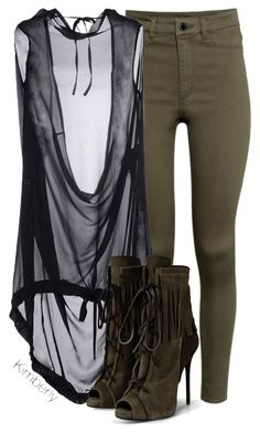 """""""Untitled #1940"""" by whokd ❤ liked on Polyvore featuring H&M, Ann Demeulemeester and Giuseppe Zanotti"""