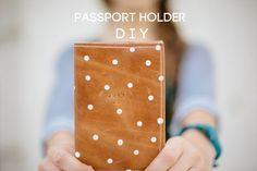 DIY Gifts for Men & Women | Crafts for Teens to Make | DIY Leather Passport Holder | DIY Projects & Crafts by DIY JOY at http://diyjoy.com/cheap-diy-gifts-ideas