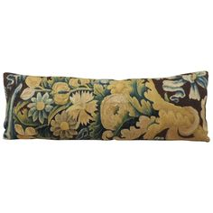 19th Century French Antique Verdure Tapestry Bolster Decorative Pillow | From a unique collection of antique and modern pillows and throws at https://www.1stdibs.com/furniture/more-furniture-collectibles/pillows-throws/