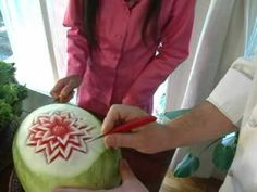 Thai Fruit Carving IT's not as hard as you think!! If you can do a pumpkin you can do a watermelon!