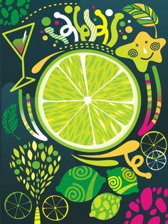 Fruits by Yulia Drobova, via Behance